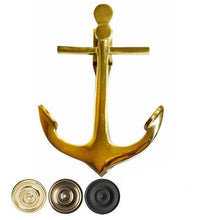 5 3/4 Inch Solid Brass Nautical Anchor Door Knocker (Several Finishes Available)