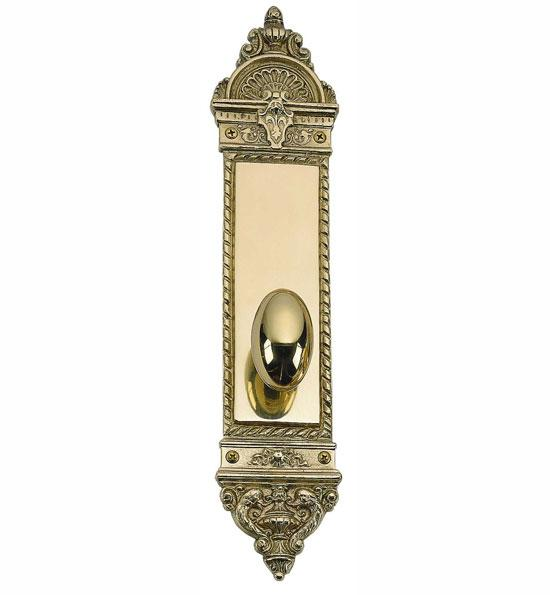 Solid Brass L'Enfant Style Oval Door Knob Set