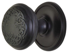 2 Inch Floral Leaf Door Knob With Victorian Style Rosette