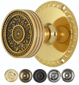 Sunburst Petal Door Knob With Egg & Dart Rosette