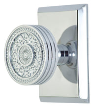 Sunburst Rice Pattern Door Knob With Rectangular Rosette