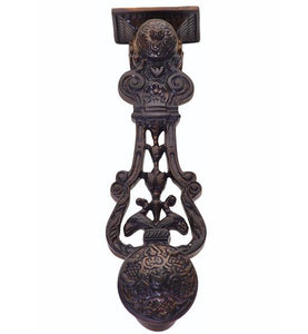 9 Inch French Empire Style Lost Wax Cast Door Knocker