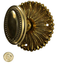 Hollywood Regency Beaded Oval Door Knob Set