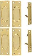 New Traditional Square Pattern Pocket Passage Style Door Set