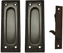 Georgian Square Pattern Pocket Passage Style Door Set