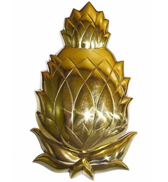7 1/2 Inch Solid Brass Pineapple Door Knocker