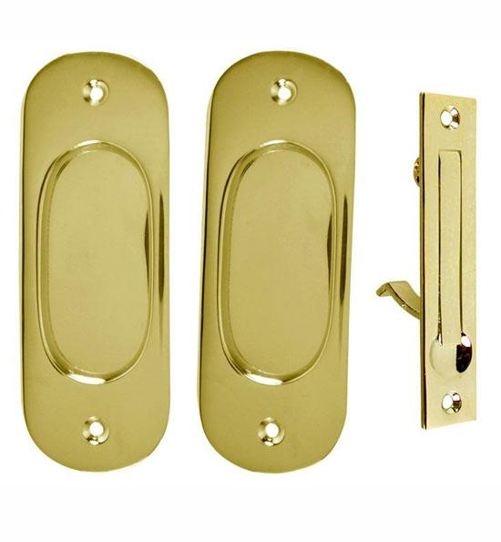 Traditional Oval Pattern Pocket Passage Style Door Set