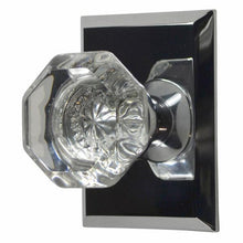 Providence Crystal Door Knob Solid Brass Traditional Plate