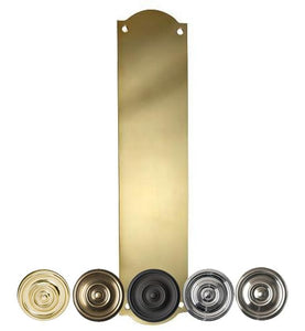 12 Inch Solid Brass Oval Push Plate