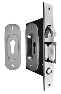 Traditional Oval Pattern Pocket Privacy (Lock) Style Door Set