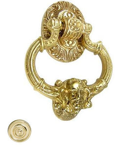 7 Inch Solid Brass Neptune Door Knocker