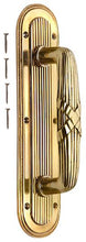 10 1/2 Inch Art Deco Style Door Pull and Plate