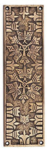 10 Inch Solid Brass Art Deco Push Plate