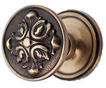 Solid Brass Romanesque Door Knob Set