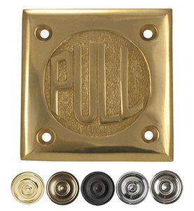 "2 3/4 Inch Brass Classic American ""PULL"" Plate"
