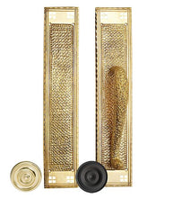 18 Inch Craftsman Style Door Pull & Push Plate Set