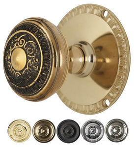Egg & Dart Door Knob With Egg & Dart Rosette