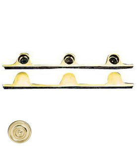 Pair Solid Brass Security Triple Push Bar Bracket Ends