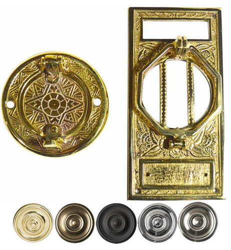 6 1/4 Inch Brass Speakeasy Door Knocker