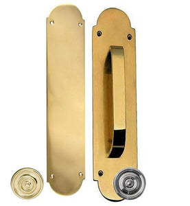 12 Inch Traditional Style Door Push and Pull Plate Set