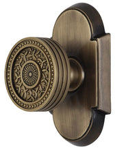 Sunburst Rice Pattern Door Knob With Arched Rosette