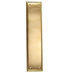 11 1/2 Inch Georgian Roped Style Door Push Plate