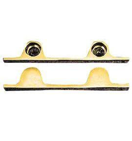 Pair Solid Brass Security Double Push Bar Bracket Ends