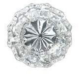 Regency Crystal Glass Door Knob Set with Rice Pattern Backplate