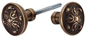 Solid Brass Romanesque Spare Door Knob Set