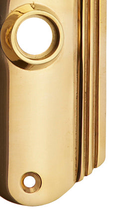7 Inch Solid Brass Art Deco Door Back Plate