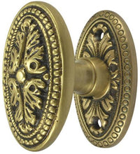 Solid Brass Avalon Door Knob Set With Oval Rosette
