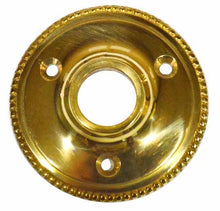 Pair 2 3/8 Inch Small Round Rosette (Polished Brass Finish)