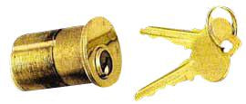 Solid Brass 1 3/4 Inch Single Lock Cylinder