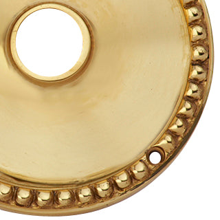 Solid Brass Beaded Round Rosette (Polished Brass Finish)