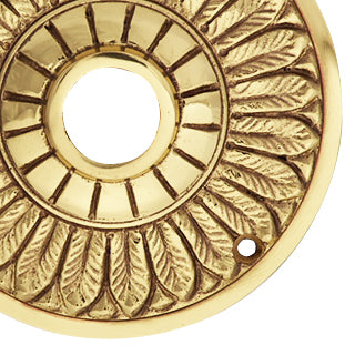 Solid Brass Feather Style Rosettes