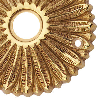 Solid Brass Provincial Style Rosette (Polished Brass Finish)