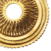 Solid Brass Sunburst Style Rosette (Polished Brass Finish)