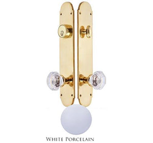 Traditional Oval Single-Door Deadbolt Entryway Set