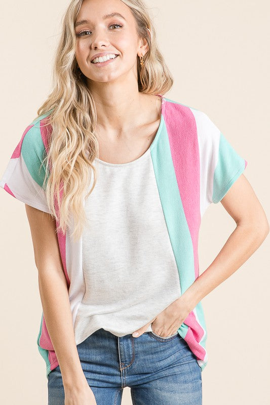 STRIPE COLORBLOCK TOP