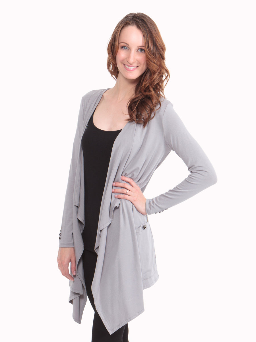 Caireen - Women's Cardigan with Pockets - TexereSilk
