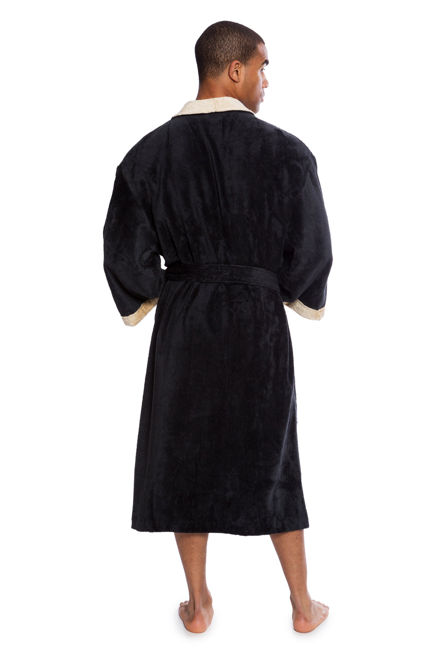 Turilano - Men's Bamboo Velvet Terry Bathrobe - Clearance - TexereSilk