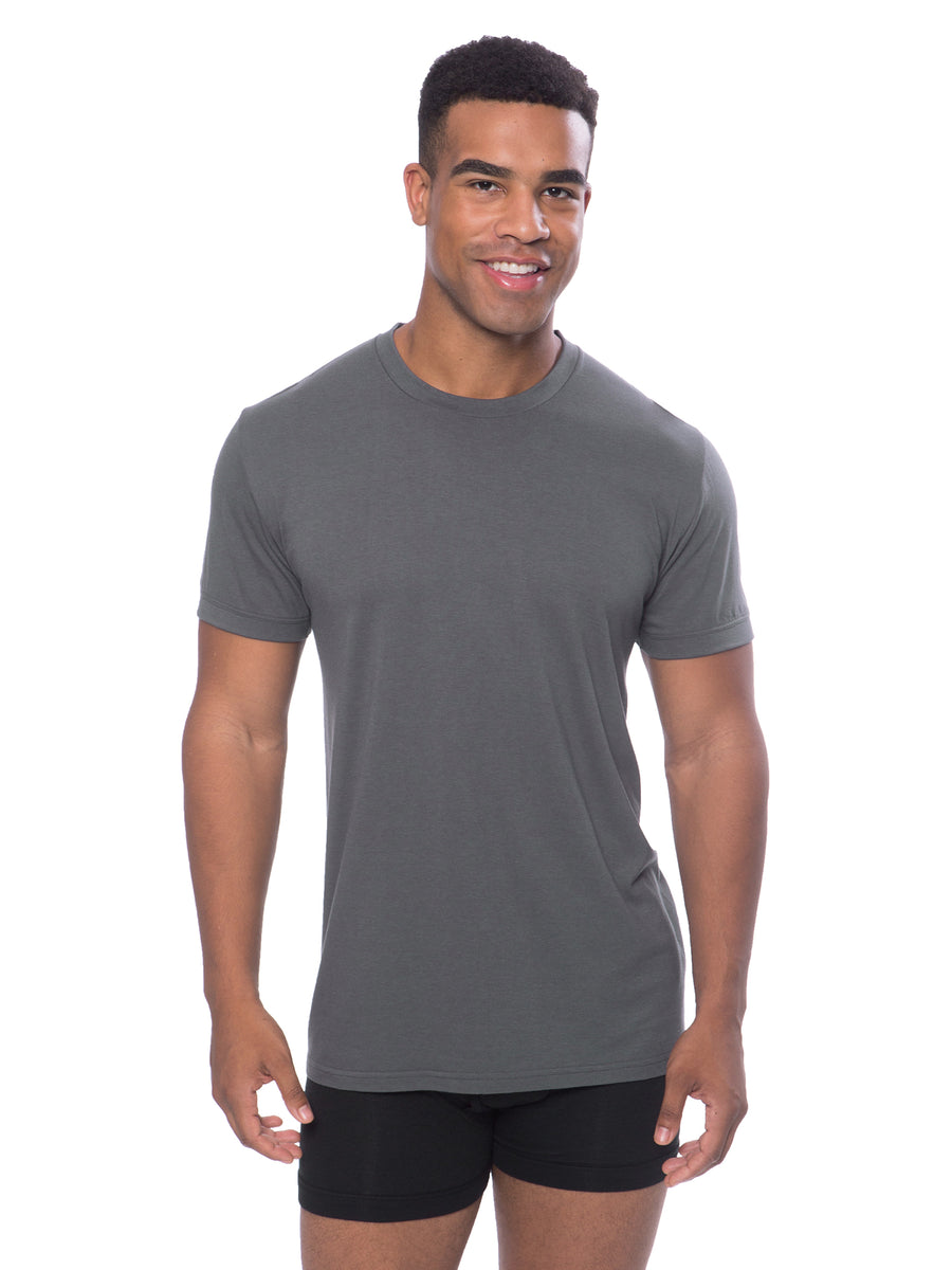 Dexx - Men's Bamboo Viscose Crew Neck Undershirt - 5 Pack - testing23451234 - Underwear