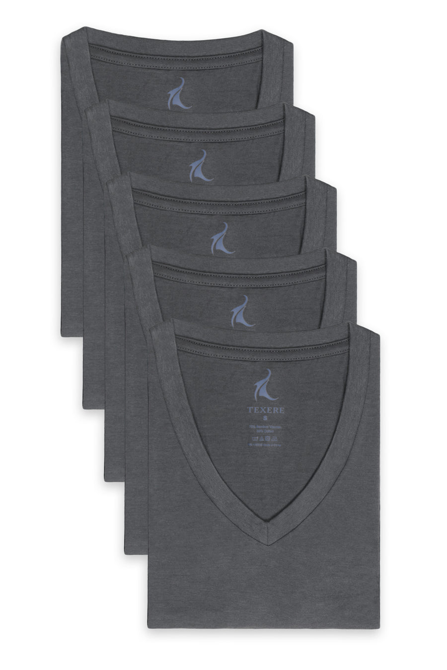 Meio - Men's Bamboo Viscose V-Neck Undershirt - 5 Pack - TexereSilk