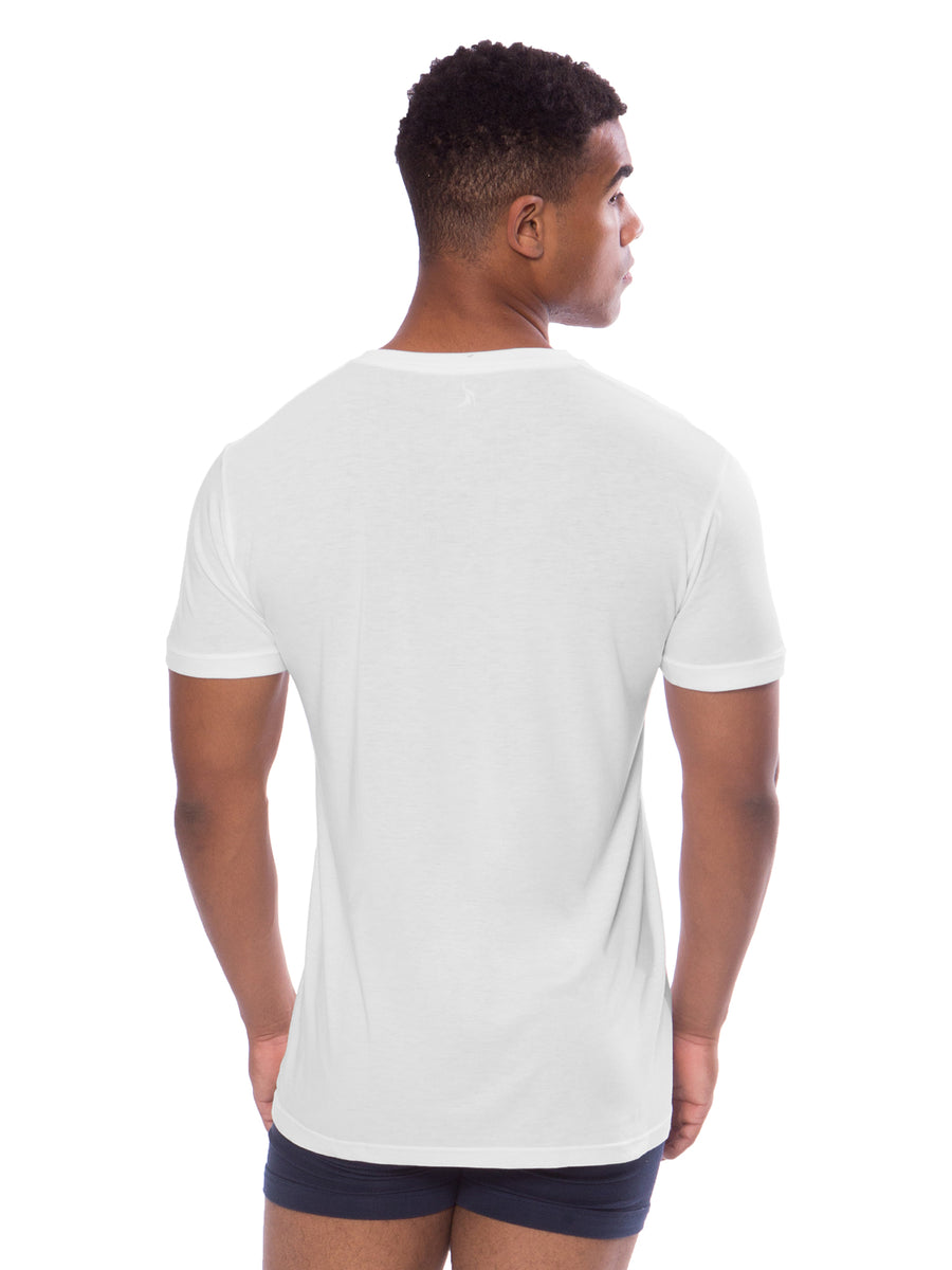 Meio - Men's Bamboo Viscose V-Neck Undershirt - testing23451234 - Underwear