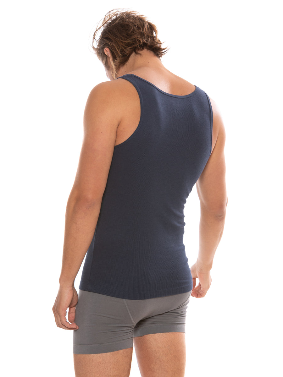 Remie - Men's Bamboo Viscose Tank Top - TexereSilk
