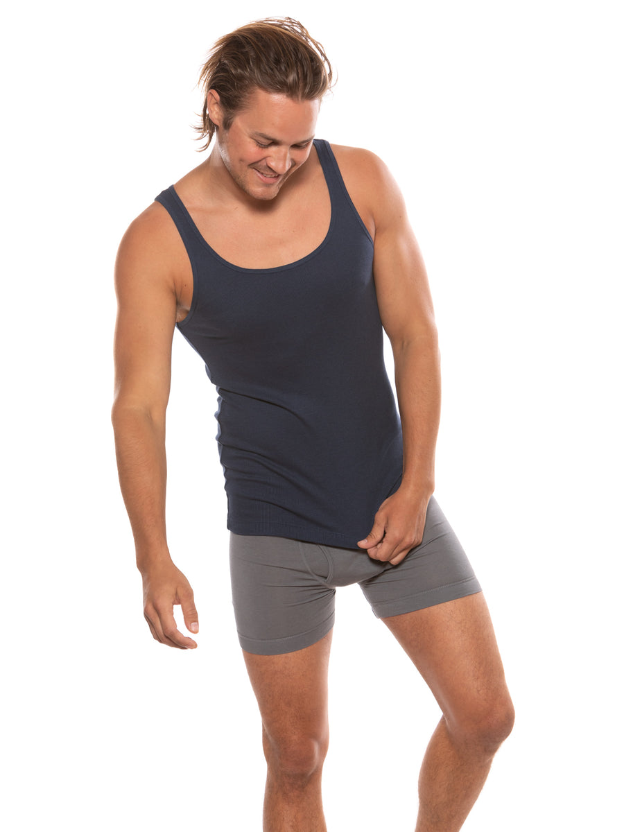 Remie - Men's Bamboo Viscose Tank Top - testing23451234 - Underwear