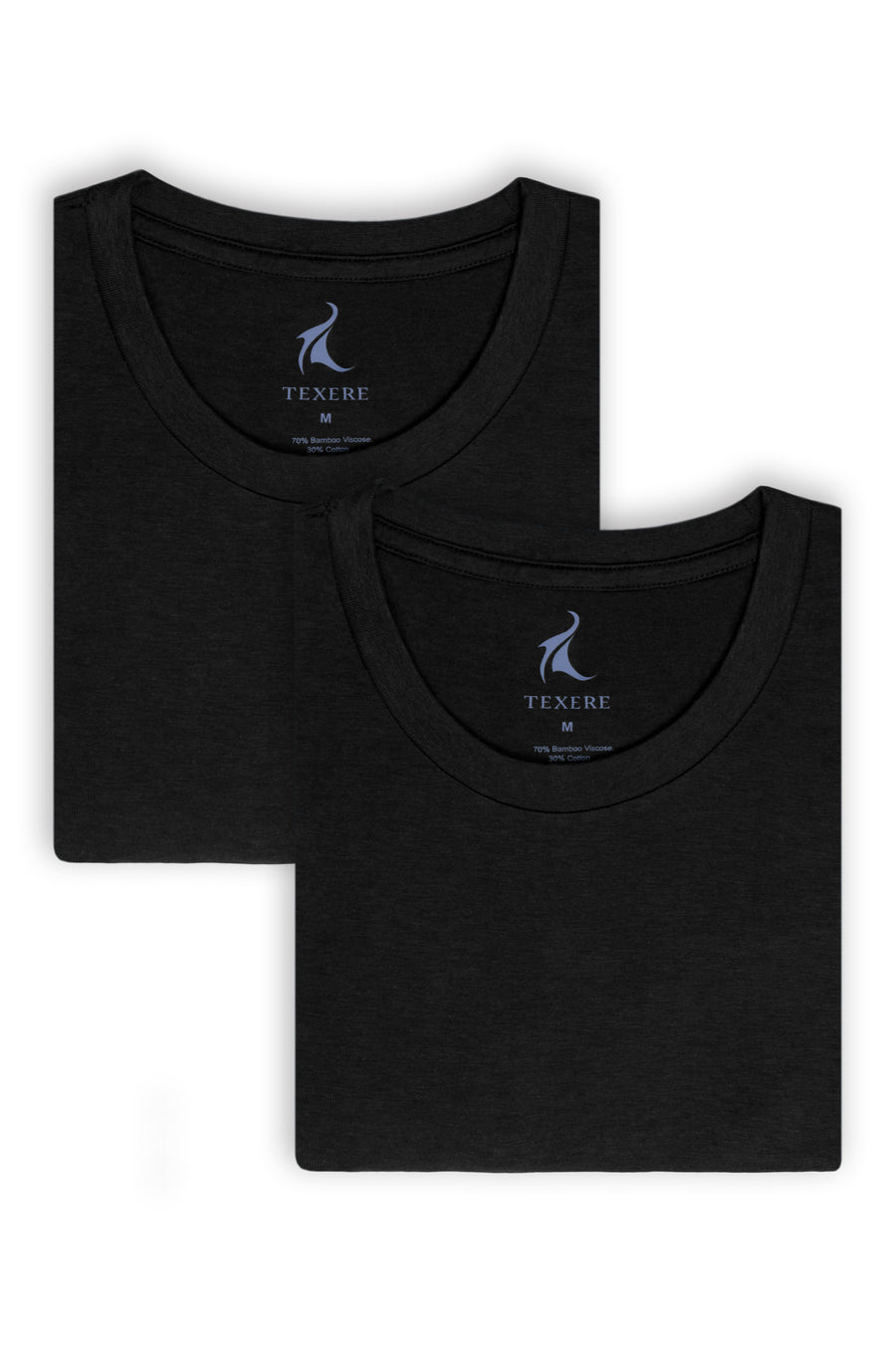 Dexx - Men's Bamboo Viscose Crew Neck Undershirt - 2 Pack - testing23451234 - Underwear
