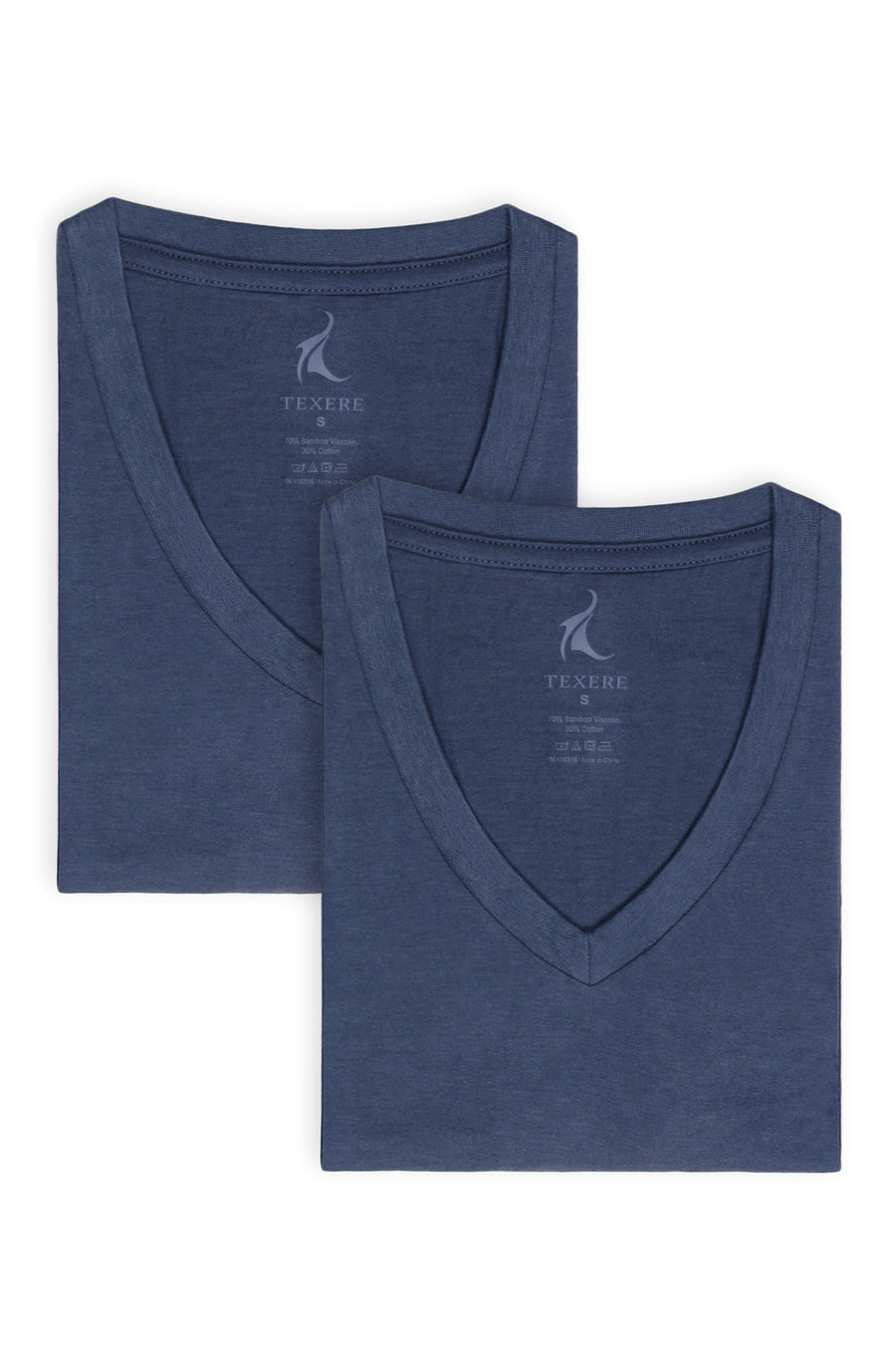 Meio - Men's Bamboo Viscose V-Neck Undershirt - 2 Pack - TexereSilk