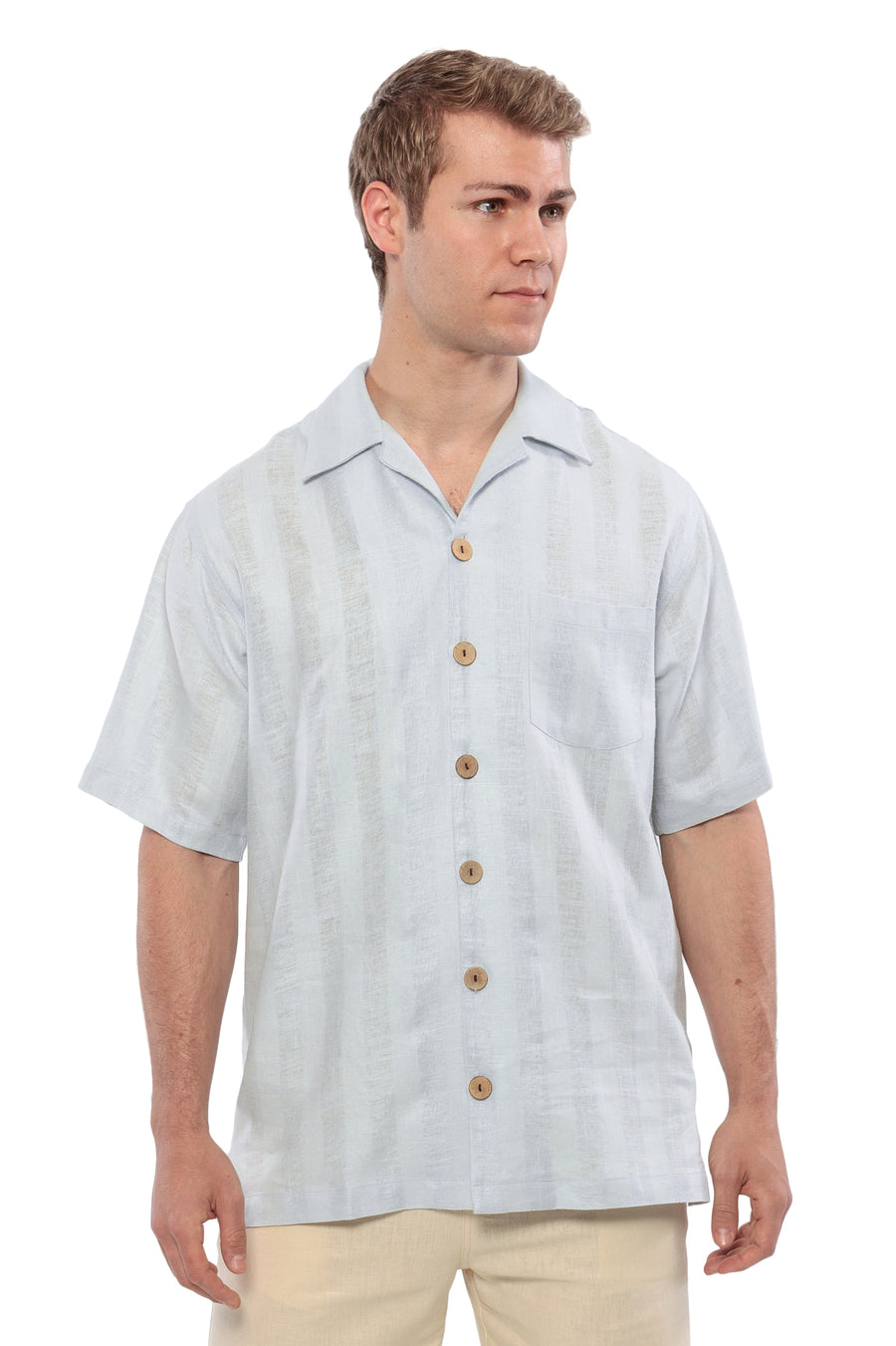 Deryn - Men's Linen Camp Shirt - TexereSilk