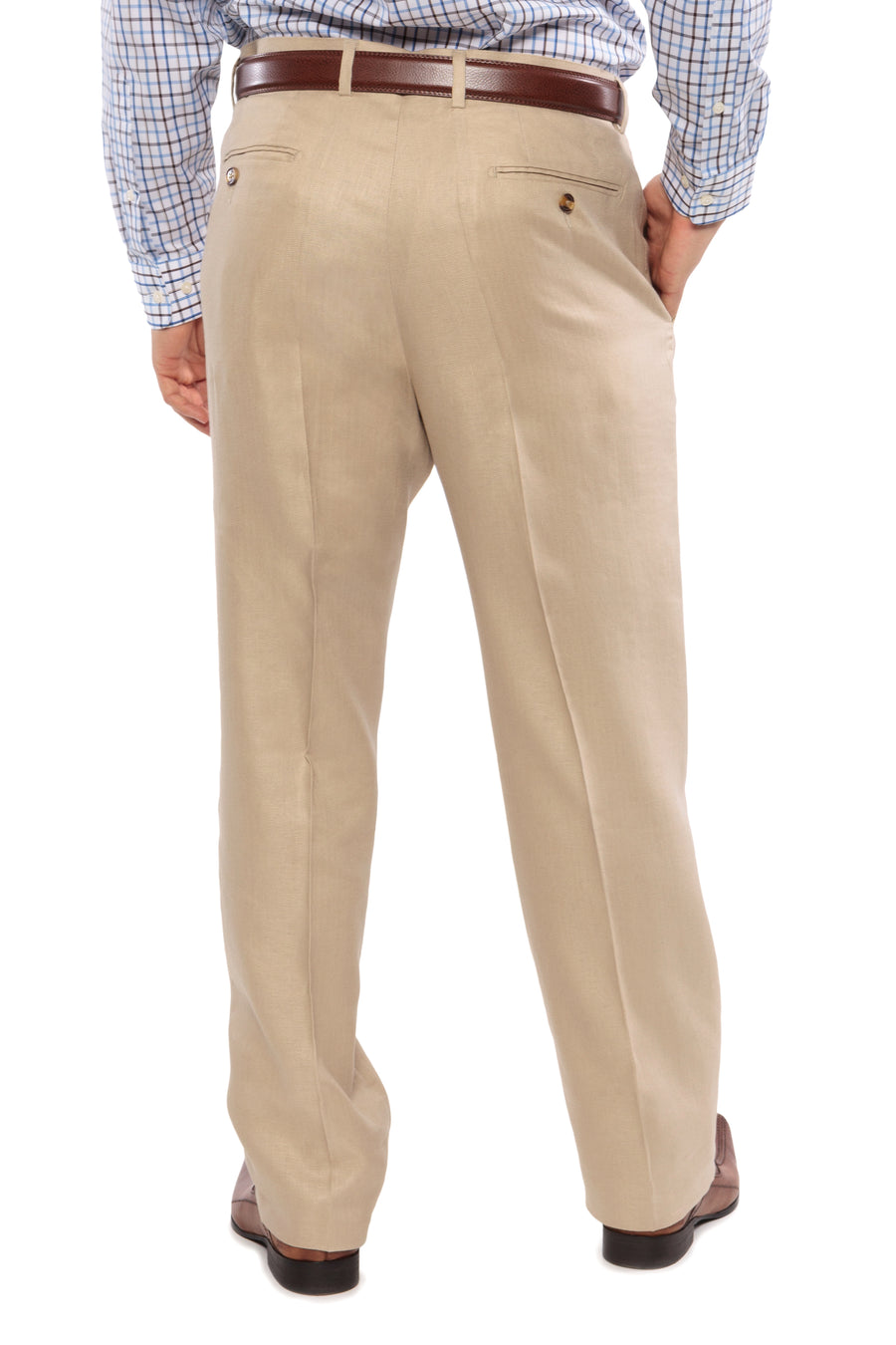 Venizano - Men's Adjustable Linen Dress Pants - TexereSilk